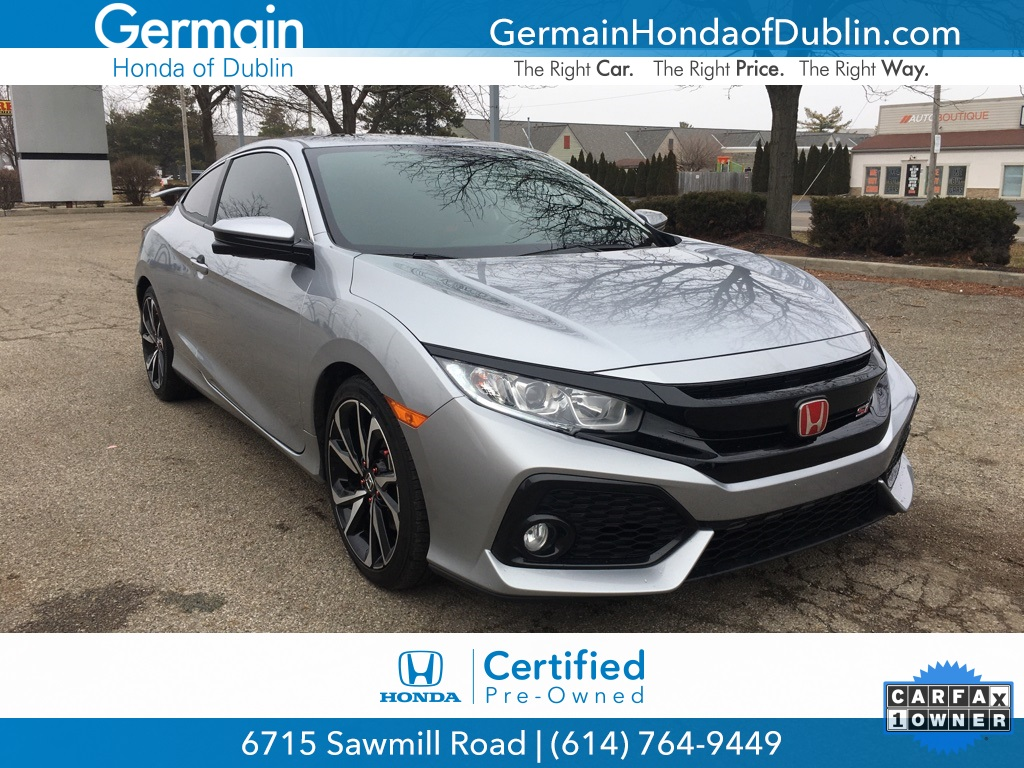 Honda Civic Certified Pre Owned >> Certified Pre Owned 2018 Honda Civic Si Fwd 2d Coupe